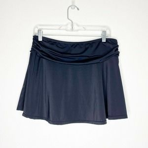 A Shore Fit Solid Ruched Swimsuit Bottom Skirt 10